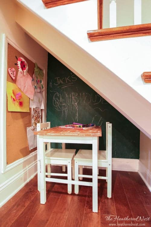 DIY chalkboard paint & chalkboard ideas from www.heatherednest.com SO INEXPENSIVE AND GREAT FOR KIDS!!!