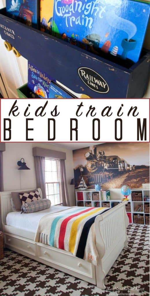 Train bedroom for kids! OMG this is PERFECT for my son who LOVES trains and all kinds of vehicles and transportation things :) #trainbedroomforkids #DIYtrainbedroom #trains #DIYroom #DIYbedroom #boysbedroomideas #boysdiybedroomideas #trainlover