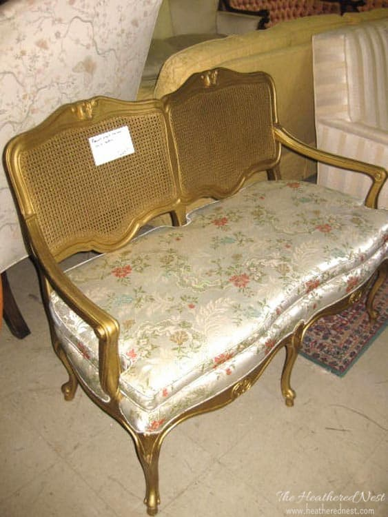 DON'T THROW THAT OUT! Re-Upholster it! Check out this Trash to Toile Transformation NOW over at www.heatherednest.com