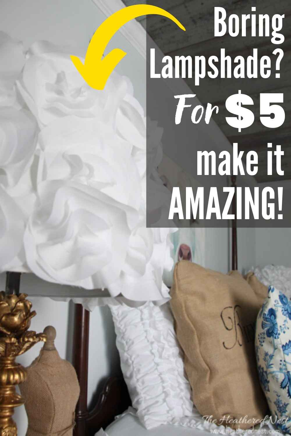 DIY Tutorial: How To Make A Gorgeous Glam DIY Flower Lampshade!