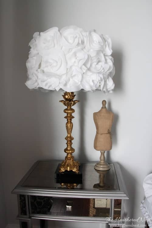 Shedding light on a DIY lampshade.