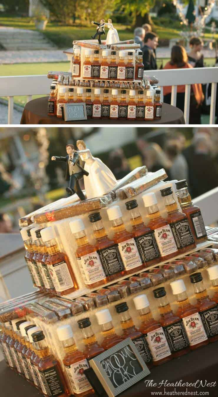 A true original!! Make this Airplane Bottle and Cigar Grooms Cake for your wedding of special event!! from www.heatherednest.com NEVER SEEN ANYTHING LIKE THIS!!