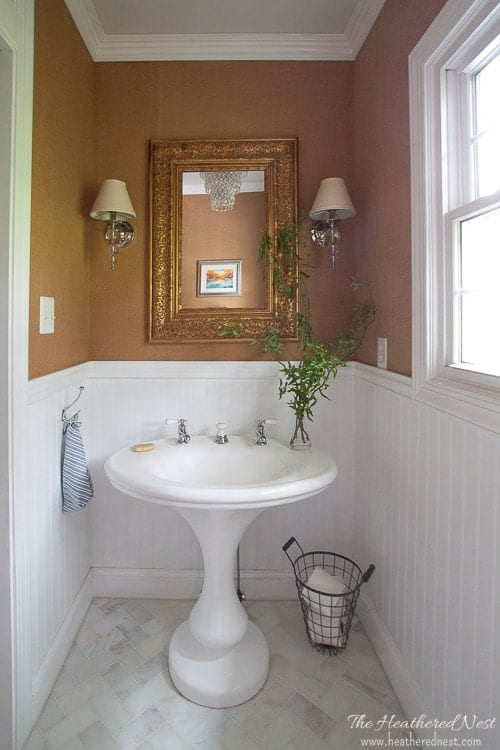 A Diy Powder Room Design Aka Quot And We Ll Never Be Royals