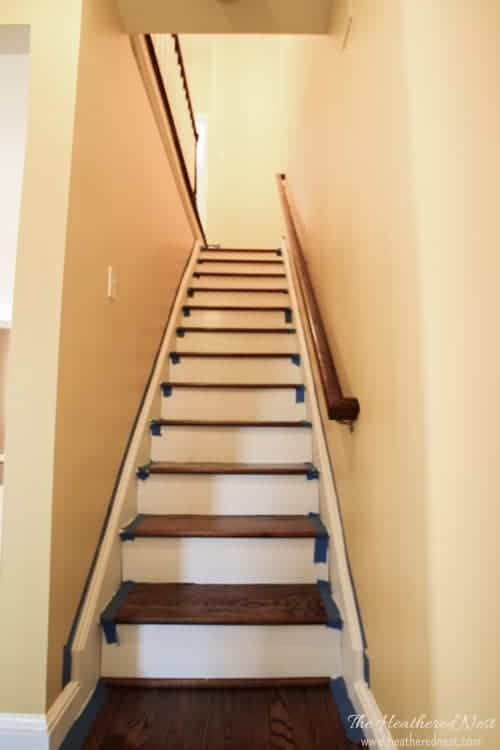 staircase makeovers from www.heatherednest.com