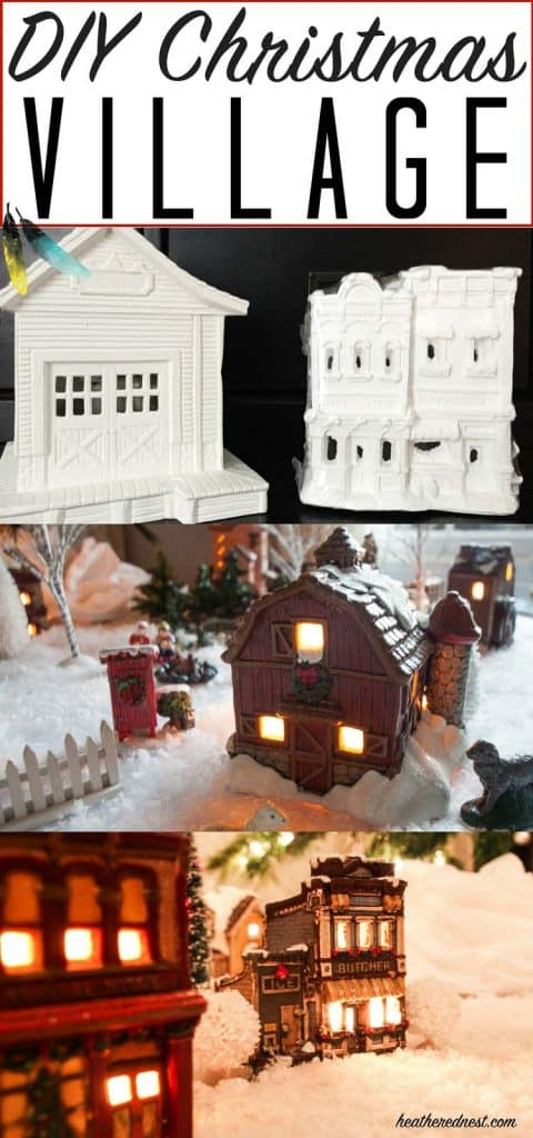 A DIY Christmas Village for a fraction of the cost! What a beautiful, heirloom collection this creates! LOVE this idea!!