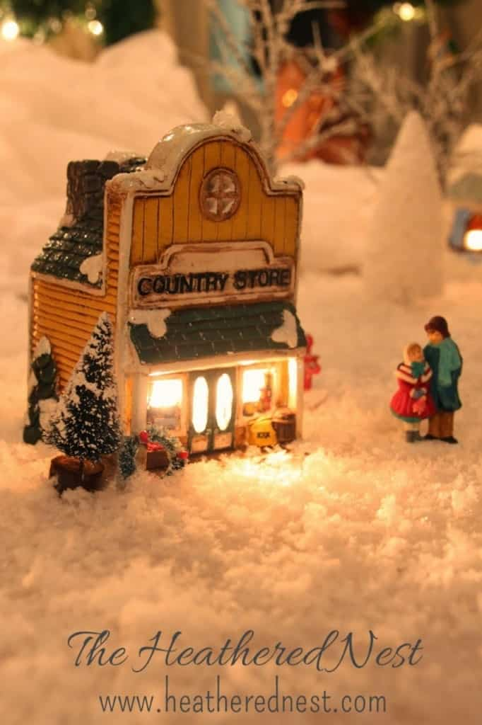Dept. 56 Christmas Village Houses at Dollar Store Prices
