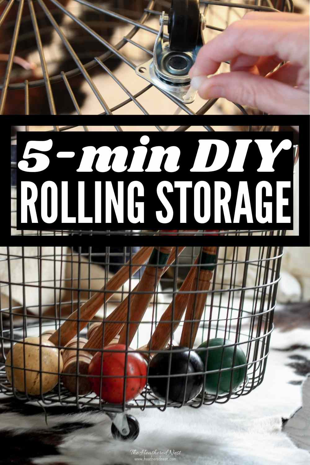 Quick & Easy DIY Rolling Storage Solution - no power tools needed!