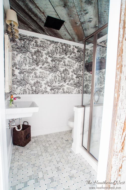 Napoleon\'s Throne Room. Our french country bathroom. | The Heathered ...