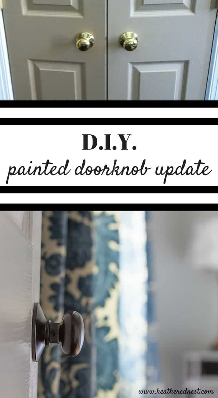 DIY door hardware upcycle! New doorknobs are expensive...restore yours for a fraction of the cost to buy new! Check out this DIY painted knobs tutorial!!
