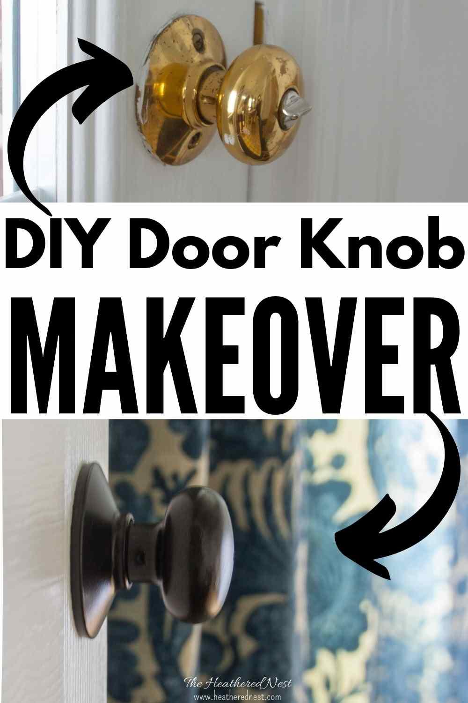 Affordable DIY door knob update