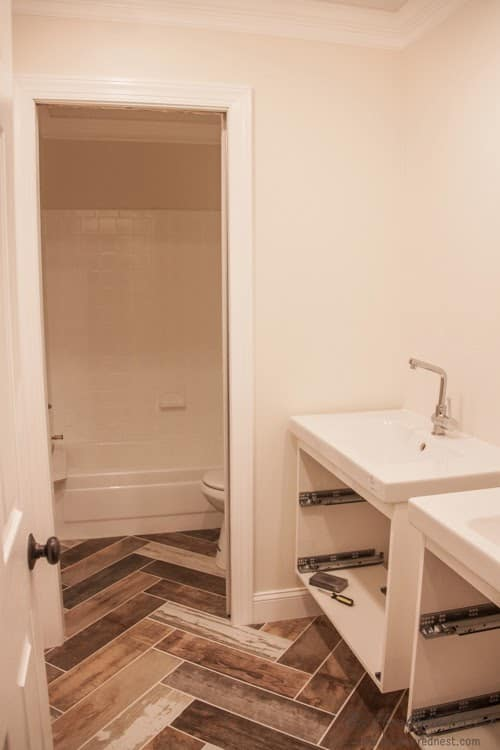 vintage travel and transportation inspired kids diy bathroom remodelcheck out the progress on - Bathroom Remodel Kids