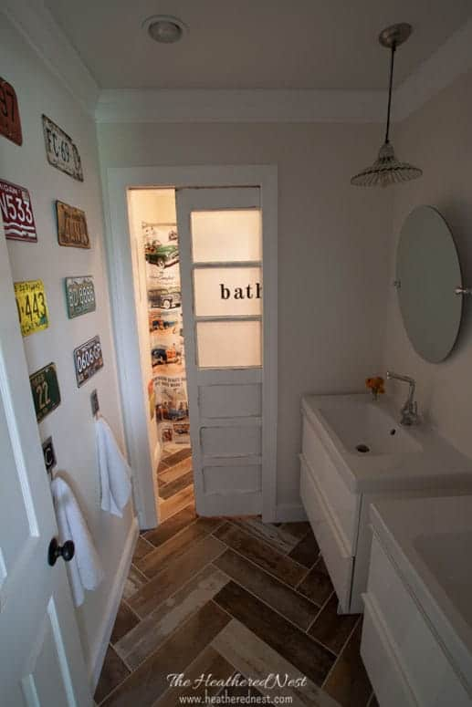 LESS THAN $2000 Fully Renovated Kids Vintage Transportation Inspired DIY  Bathroom! Check It Out