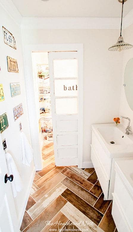 LESS THAN $2000 Fully Renovated Kids Vintage Transportation-Inspired DIY Bathroom! Check it out!!!