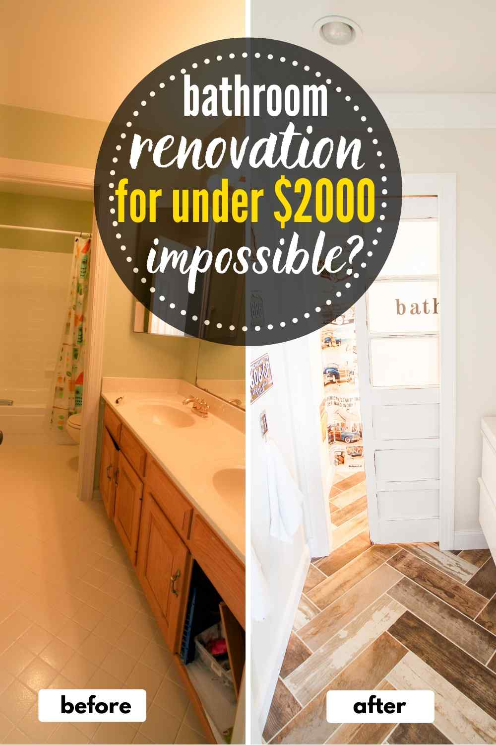 A Budget of $1800? How Far Could You Get For A DIY Bathroom Renovation?