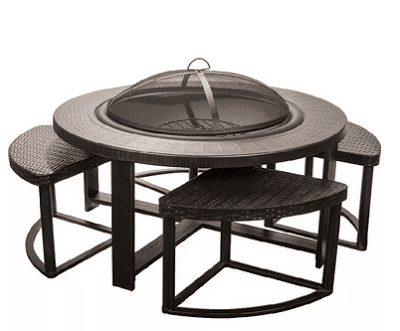Alpine Flame 4-person Patio Conversation Set with Fire Pit Table from UltimatePatio.com