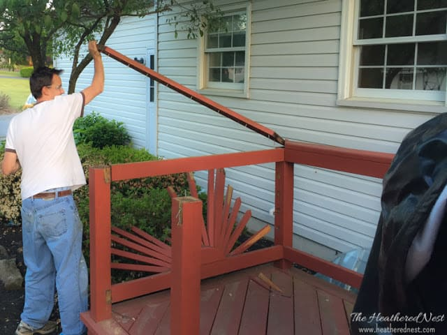 removing top rail from old deck railing