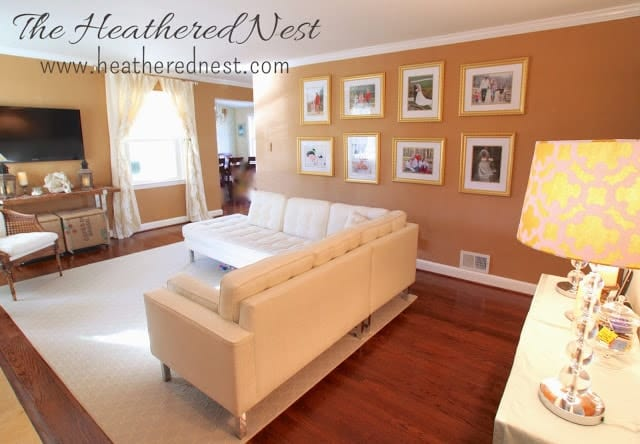 Burlap Grasscloth Living Room Heathered Nest