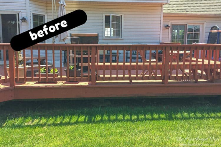 staining a deck is a popular DIY project. This tutorial will show you how to stain a deck properly. from heatherednest.com