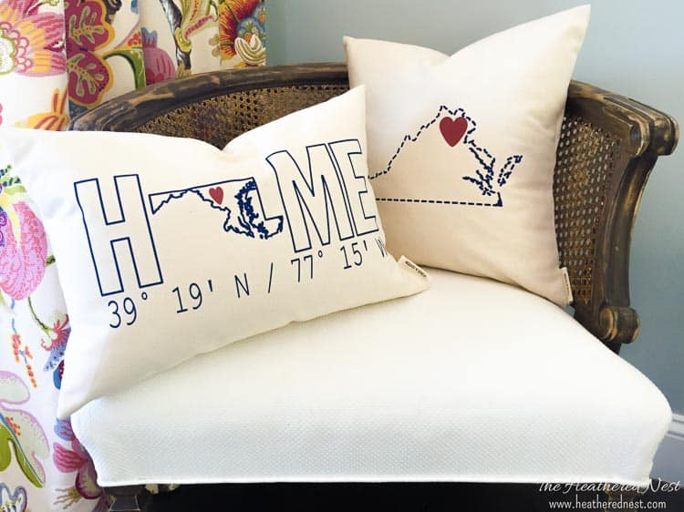 Etsy personalized home pillows