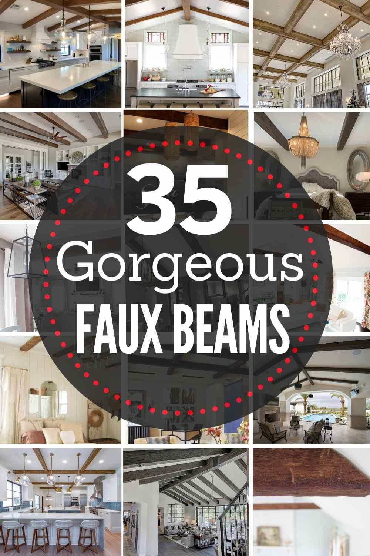 35 gorgeous faux wood beams