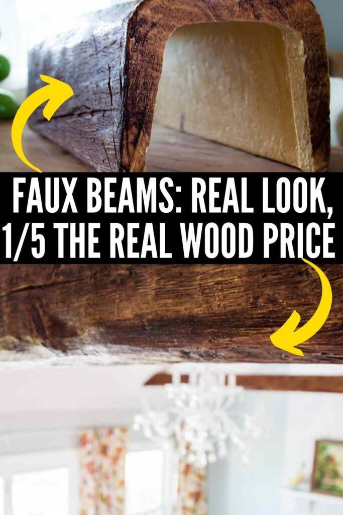 DIY faux wood beam installation