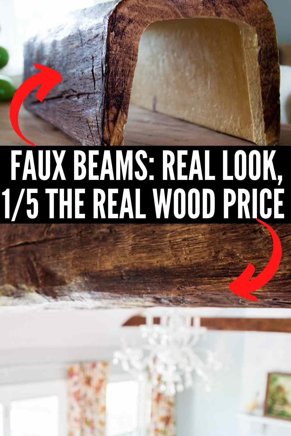 DIY faux wood beam installation