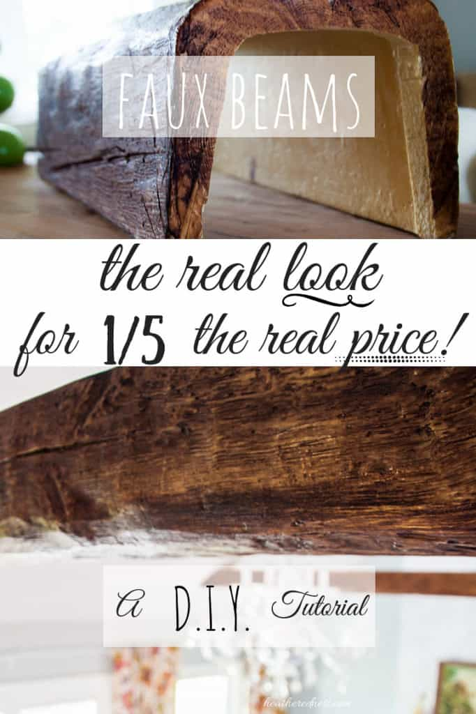 Faux beams close up images text overlay faux beams the real look for 1/5 the real price!