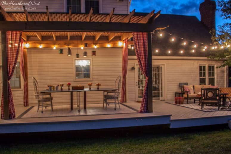 Deck cover backyard deck ideas our deck makeover for How do you build a deck yourself