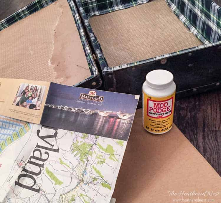 DIY medicine cabinet or wall storage from a vintage suitcase! See how to make this easy bathroom storage or storage cabinet!