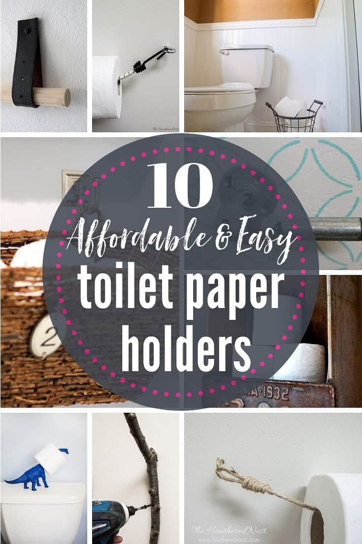 DIY and Inexpensive Toilet Paper Holder Ideas - Back to