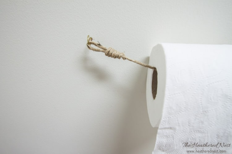 1 rustic rope toilet paper holder