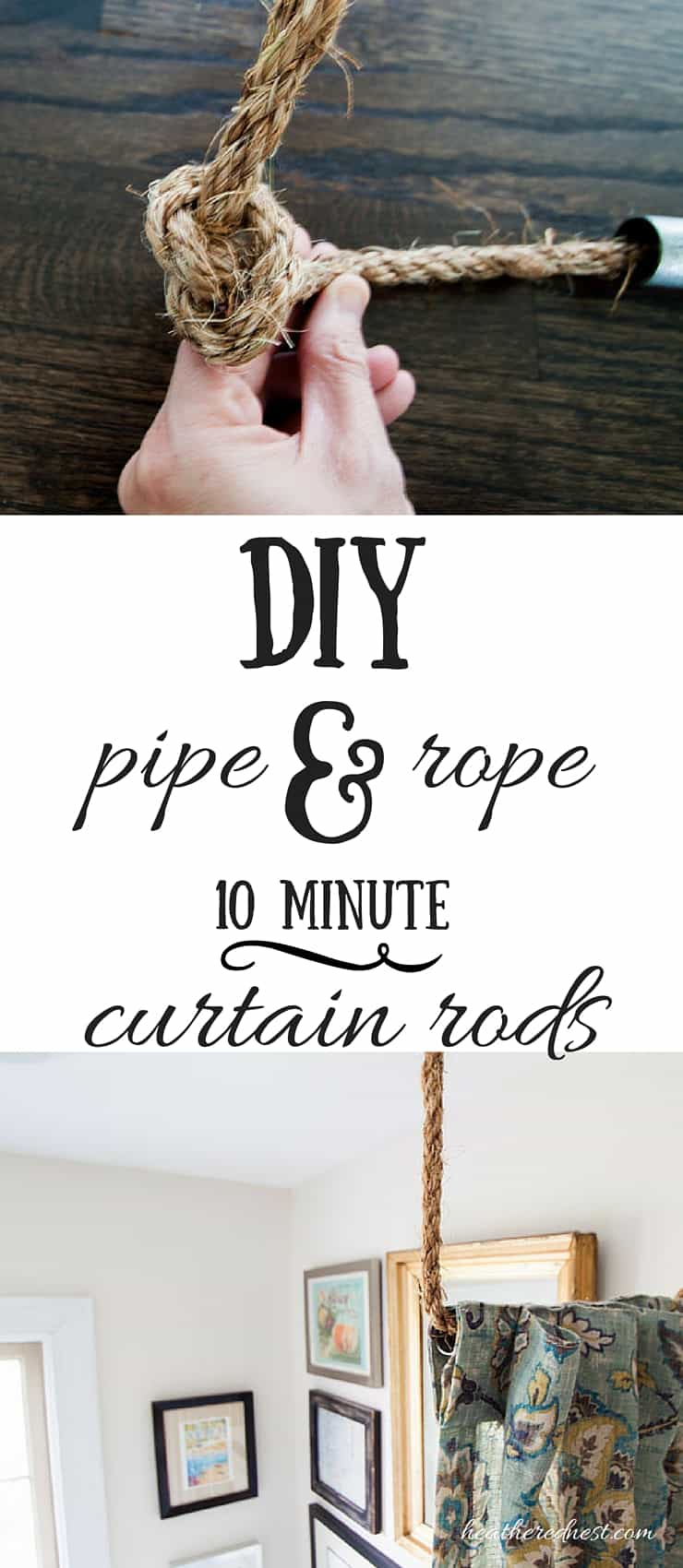 pipe dreams aka build a diy curtain rod in 10 minutes. Black Bedroom Furniture Sets. Home Design Ideas