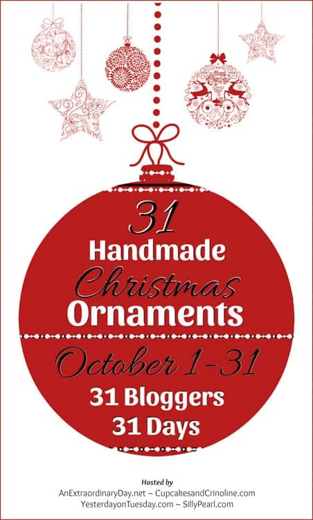 31 handmade christmas ornaments! 31 bloggers all with unique DIY handmade ornament ideas to try