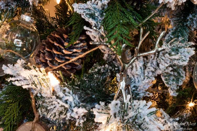 """Spruce"" up your fake christmas tree with real pine branches!! IT'S FREE!! And SUPER EASY!! heatherednest.com"
