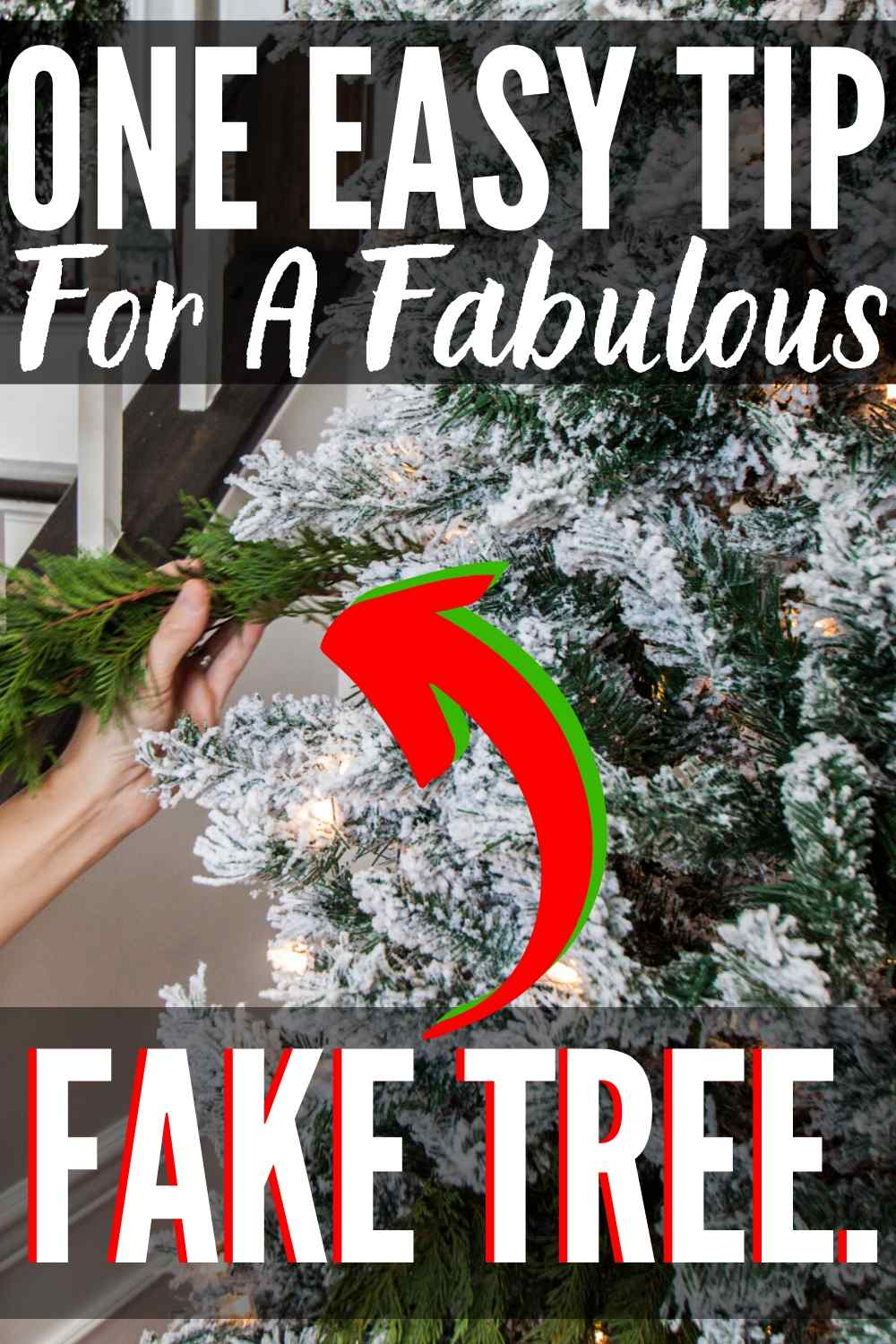 artificial tree improvement hack Pin image
