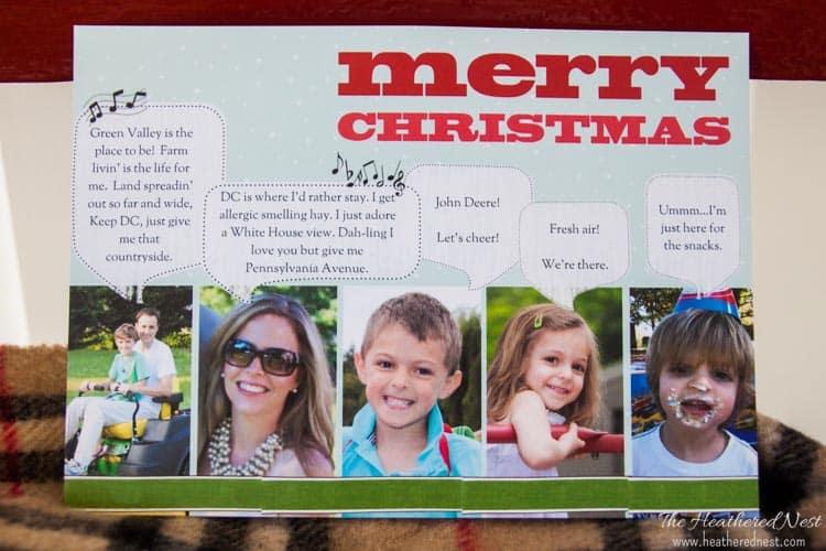 Personalized Holiday Christmas Card Ideas www.heatherednest.com