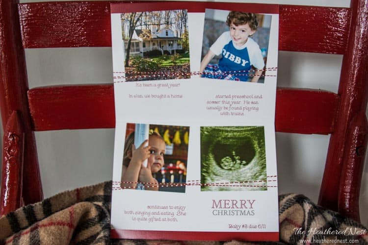 Personalized Holiday Christmas Card Ideas www.heatherednest.com