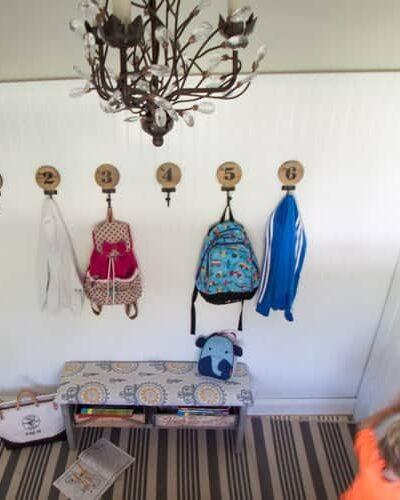 laundry room mud room makeover heathered nest