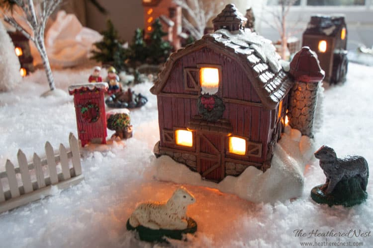 DIY Painted Christmas Village update Heathered Nest-3-2