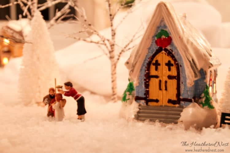 DIY Painted Christmas Village update Heathered Nest-3-3