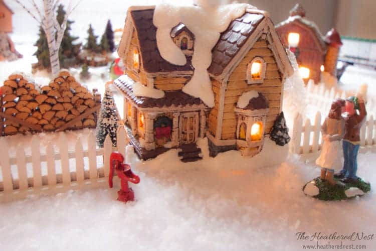 DIY Painted Christmas Village update Heathered Nest-3