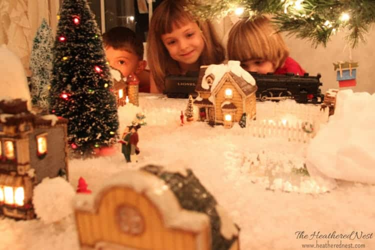 handpainted Christmas village