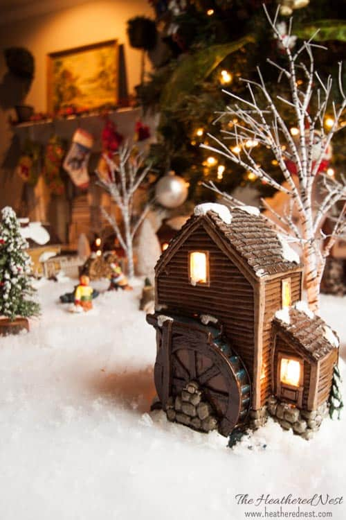 DIY Painted Christmas Village update Heathered Nest-5