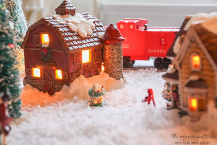 DIY Painted Christmas Village update Heathered Nest-7