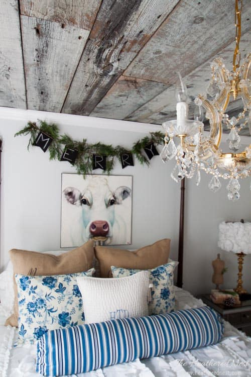 heathered nest holiday home tour 2015 country style guest bedroom
