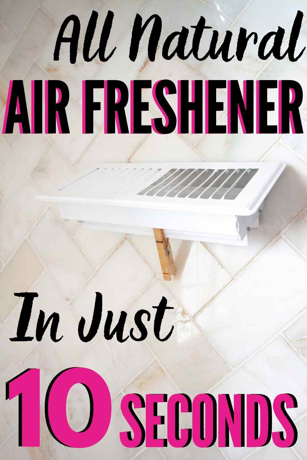An ALL NATURAL homemade air freshener you can make in under one-minute! Less stink, more spa. Ahhhh.