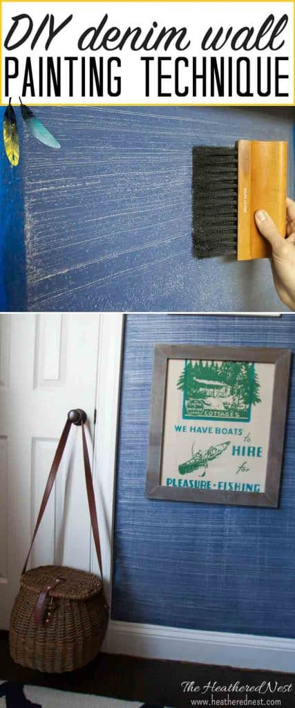 Denim Faux Finish Paint Tutorial The Heathered Nest