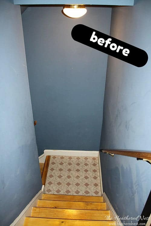DIY painted stairs tutorial