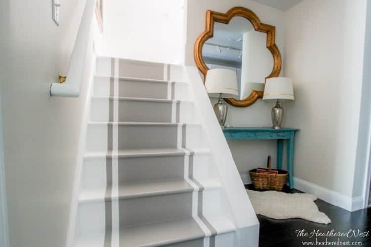 Superbe A Painted Stairs Tutorial | The Heathered Nest