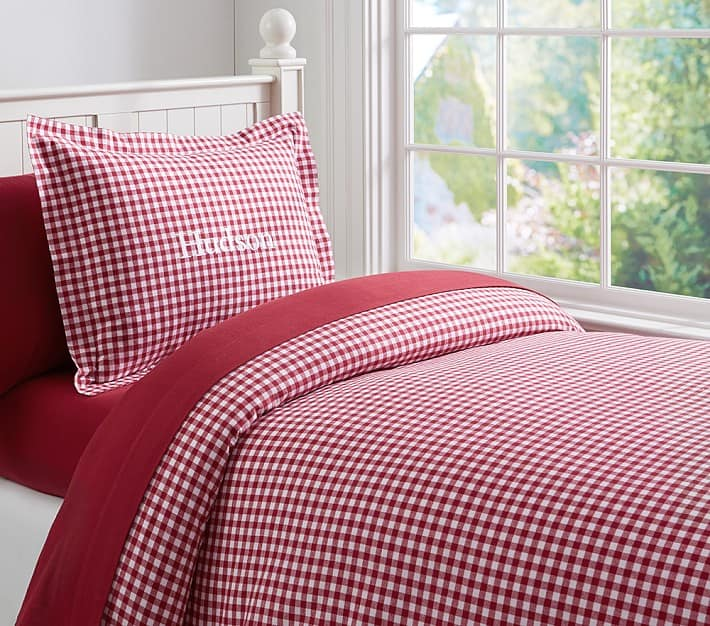 Pottery Barn Kids Buffalo Check Bedding